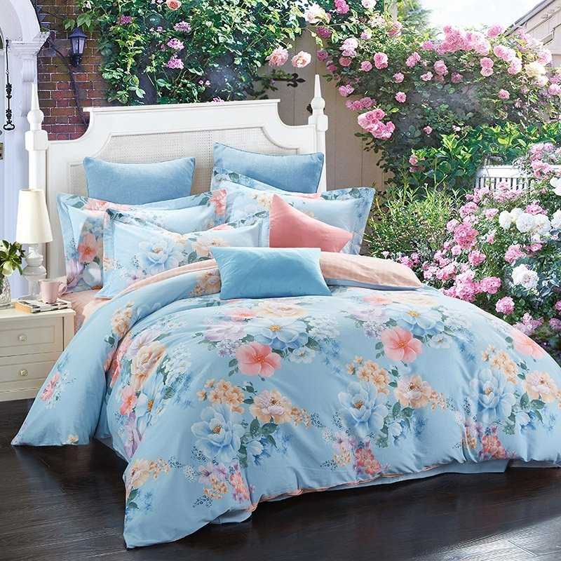 country chic blue bedding