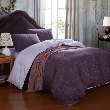 Chocolate Brown Pink Simply Modern Chic Luxury Unique Adult Guy 100% Cotton Full, Queen Size Bedding Sets