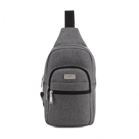 Slate Gray and Black Color Blocking Durable Oxford Crossbody Chest Pack Vogue Casual Quilted Sewing Pattern Men Small Bosom Bag