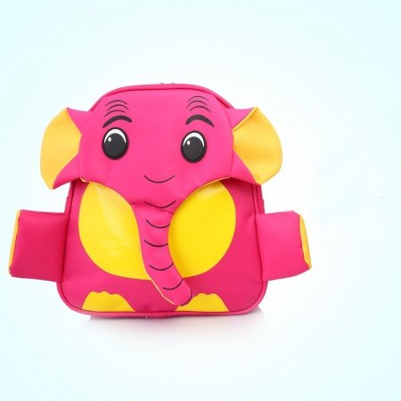 Personalized Cute Animal Elephant-shaped Toddler School Backpack Rose Red Yellow Vogue Fine Durable Nylon Faux Leather Kids Book Bag