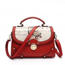 Trend Turkey Red White Feminine Lady Flap Messenger Crossbody Shoulder Bag Personalized Butterfly Monogrammed Big Ben Studded Tote Bag