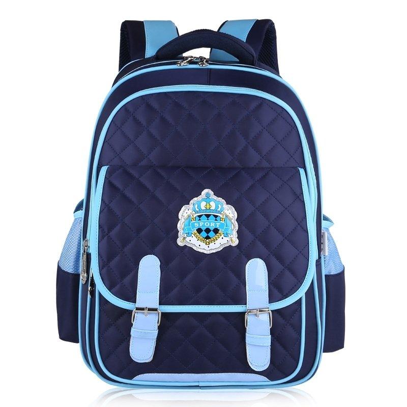 Modern Dark Blue Nylon with Aqua Leather Trim Quilted Flap Campus ...