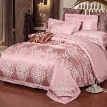 Fancy Dusty Rose and Silver Tribal Bohemian Pattern Modern Chic Western Style Unique Full, Queen Size Bedding Sets