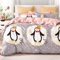 Kawaii Style Cute Animal Penguin Print Twin, Full Size Bedding Sets