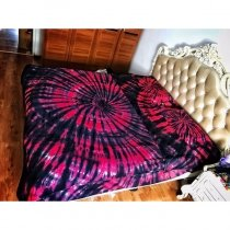 Red and Black Hippie Style Tie Dye Bohemian Chic Personalized Twin, Full, Queen Size Bedding Sets