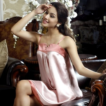 Classic Reminiscence Gorgeous Slips Straps Backless Breathable Silk Pajamas