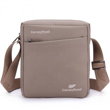 Plain Khaki Vogue Oxford Messenger Bag Mitoshop Style Monogrammed Casual Business Quilted Men Small Crossbody Shoulder Bag