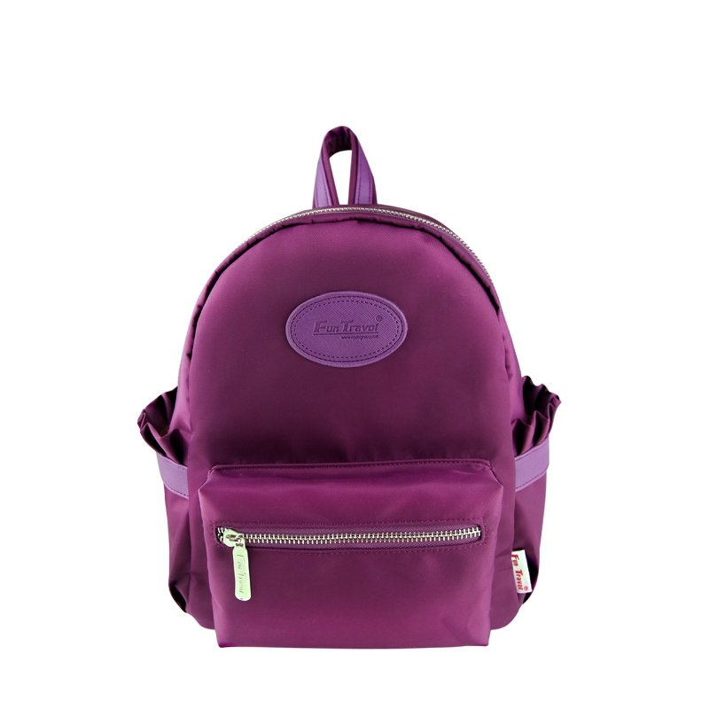 Stylish Simply Chic Korean Style Women Small Casual Travel Backpack Byzantium Purple Durable Nylon Zipper Preppy Book Bag for School