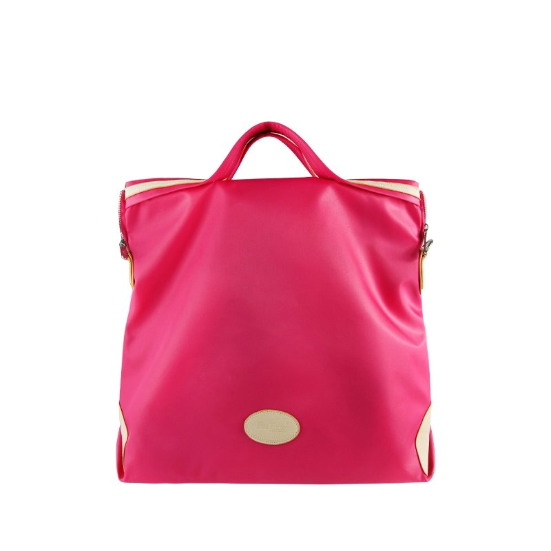 Plain Hot Pink Oxford Durable Lightweight Women Princess Diana Tote Handbag Stylish Macaron Simply Chic Elegant Crossbody Shoulder Bag