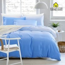 Boys Pale Blue and Sky Blue Ombre Colored Simply Chic Stylish Unique 100% Organic Cotton Full, Queen Size Bedding Sets