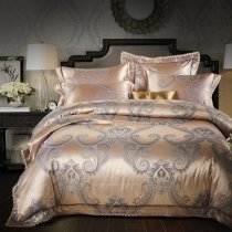Gold and Gray Paisley Pop Bohemian Style Noble Excellence Luxury Royal Style Full, Queen Size Bedding Sets
