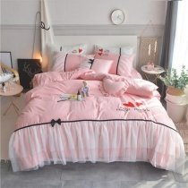 Beautiful Bridal Style Luxury Lace Full, Queen Size Bedding Sets